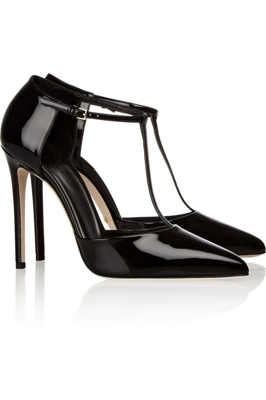 Pumps, Black patent leather shoes