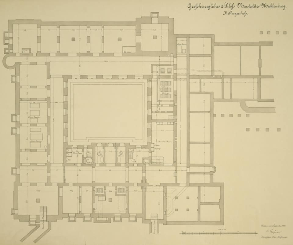 Basement Floor Plan Of Schloss Neustrelitz The Main