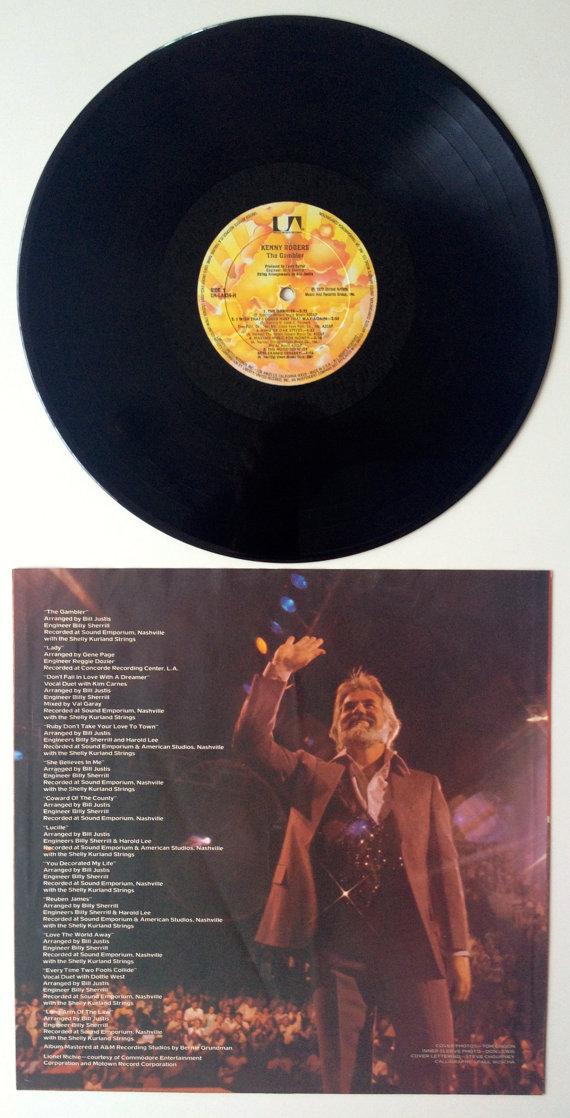 Kenny Rogers The Gambler LP Vinyl Record Album by ...
