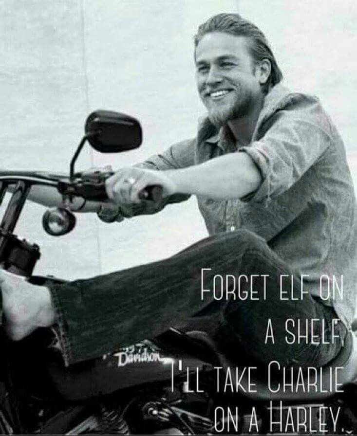 Well you! Charlie hunnam naked on a harley can