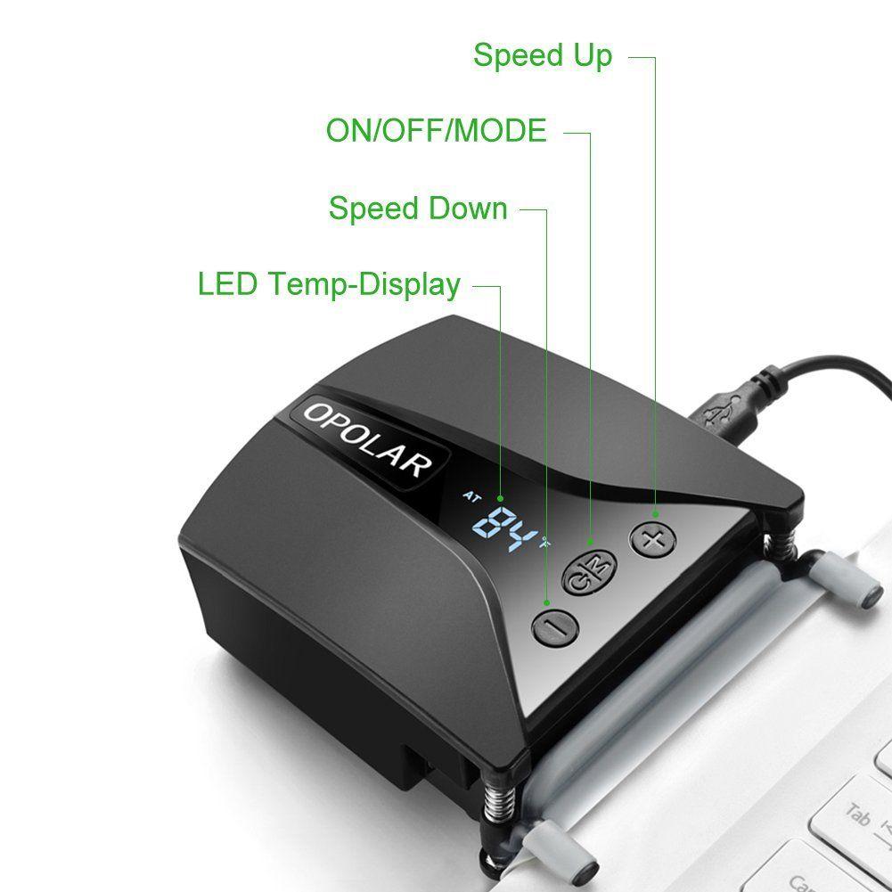 Opolar Laptop Cooler with Vacuum Fan (Rapid Cooling, USB
