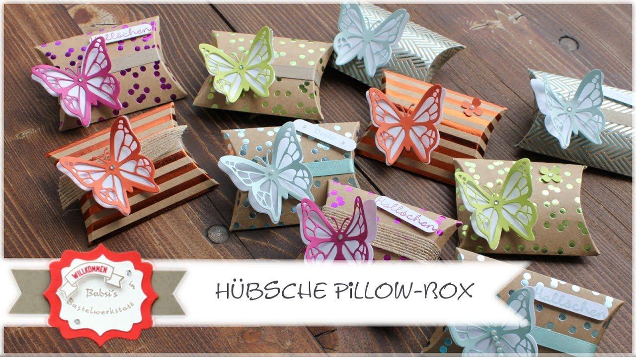 pillow box gastgeschenk verpackung goodie mit produkten von stampi stampin up box and. Black Bedroom Furniture Sets. Home Design Ideas
