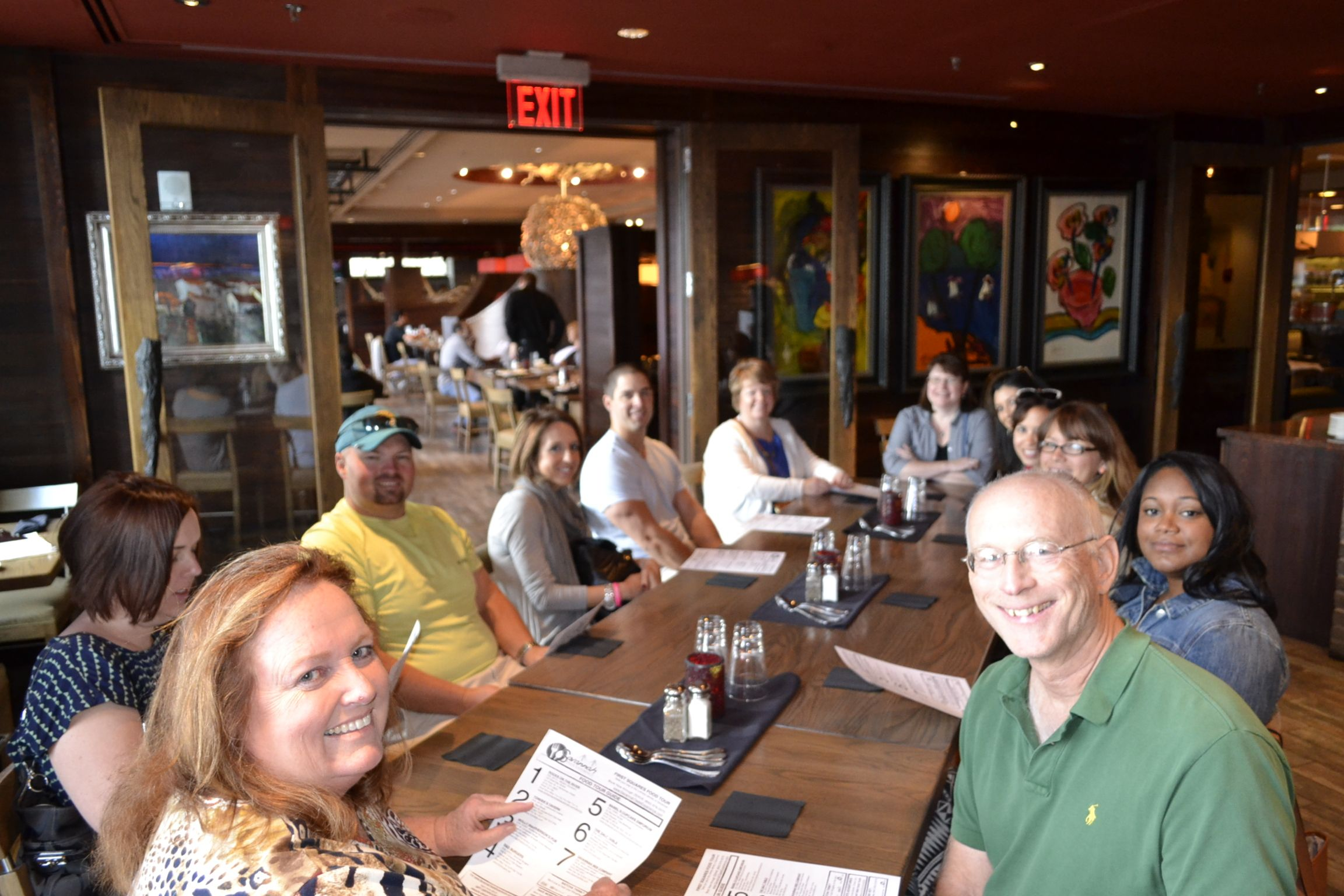 Saturday tour-goers about to sink their spoons into some She Crab Soup from Rocks on the River. #Savannah #SavannahTaste #RiverStreet