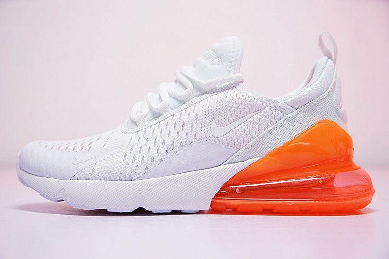 Nike Air Max 270 Blanc Total Orange AH8050 102 Prix Discount