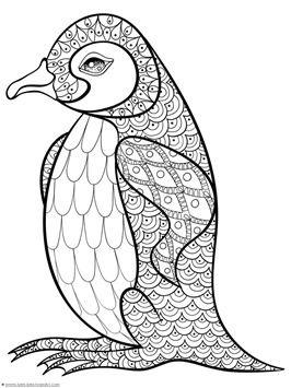 Penguin Doodle Coloring Pages Malblätter Pinterest Ausmalen