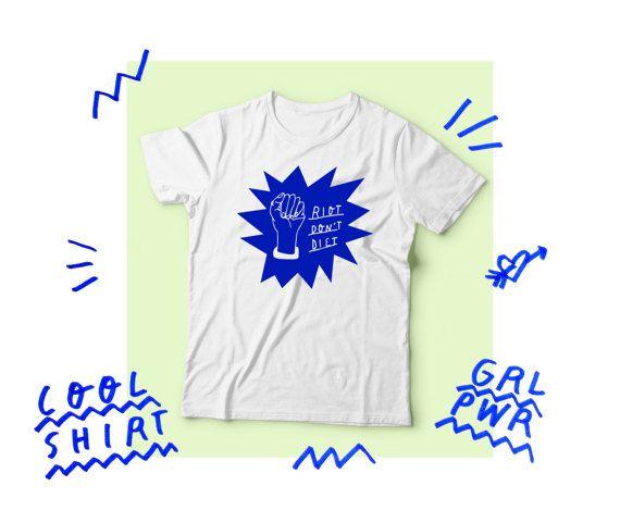 Riot Don't Diet - T-Shirt (black) ReJqaTXjgU