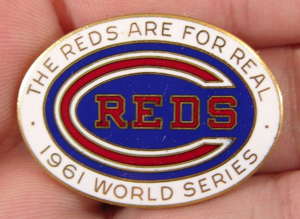 CINCINNATI REDS VS NEW YORK YANKEES 1976 WORLD SERIES PIN MLB LICENSED Sports Fan Apparel & Souvenirs