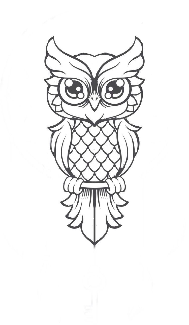 Cute Owl Cartoon Bird Svg Files For Silhouette Files For Cricut Svg Dxf Eps Png Instant Download Owls Drawing Owl Drawing Simple Owl Tattoo Drawings