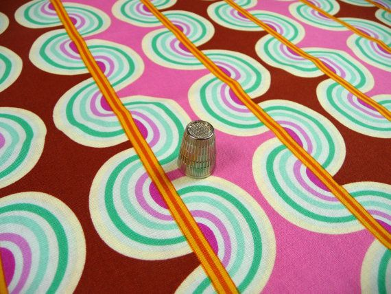 Stripe for Rule Breakers Cotton Fabric Pink Brown by APinkSwan, $8.00