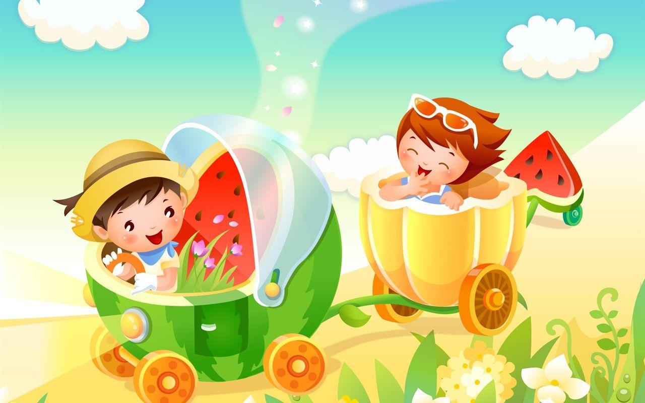 Vector Cartoon Child Wallpaper Album 9 1280x800 Cartoon Wallpaper Cartoon Painting Cartoon Background