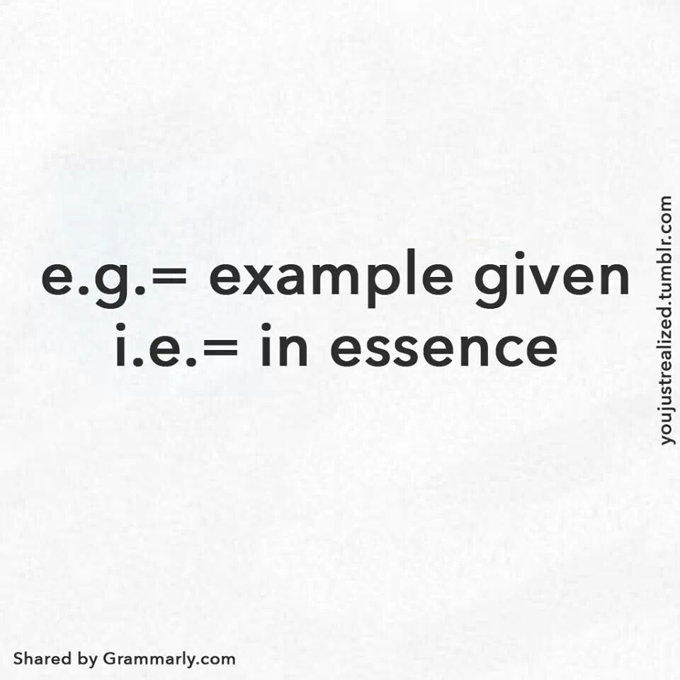 Eg Actually Means Exempli Gratia Which Translates To For Example
