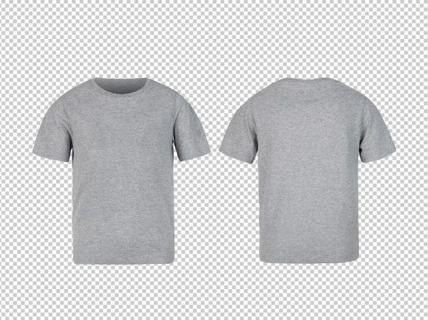 Download Grey Kids T Shirt Front And Back Mockup Clothing Mockup Kids Tshirts Tshirt Mockup Free
