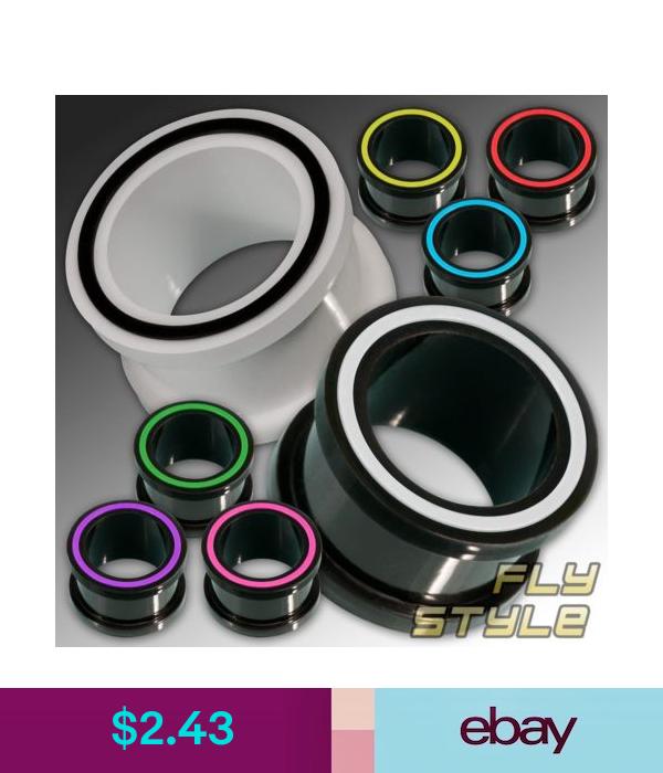 Silicone Tunnel Flesh Plug flexible ear expander piercing plug tube rubber sport