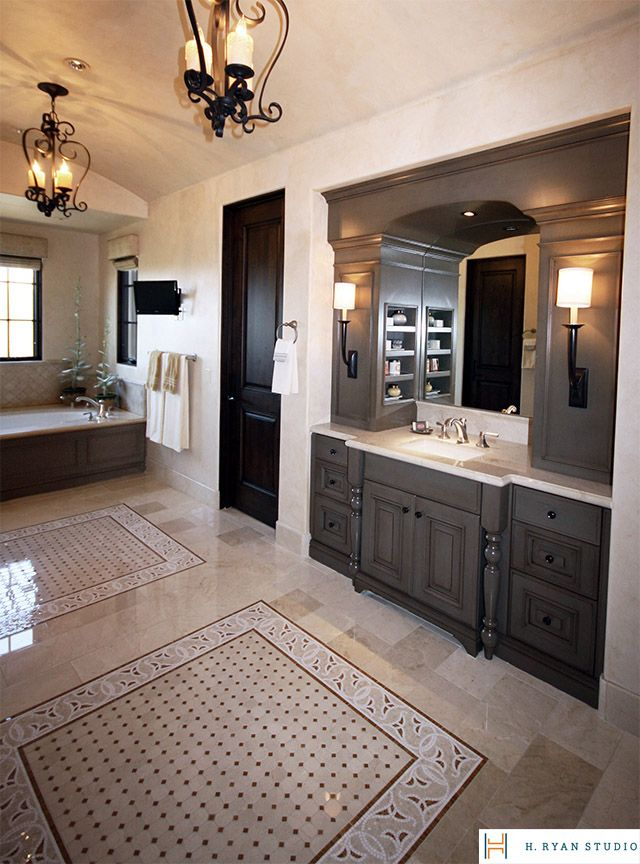 Modern Colonial Bathrooms: Spanish Colonial Mix Master Bathroom