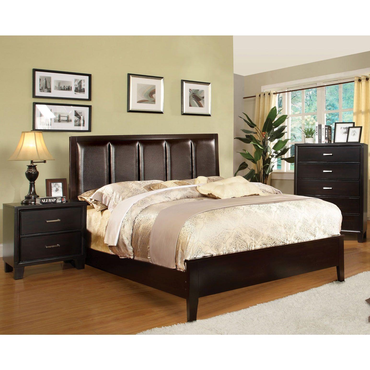 Furniture of america rafael contemporary piece bedroom set cal