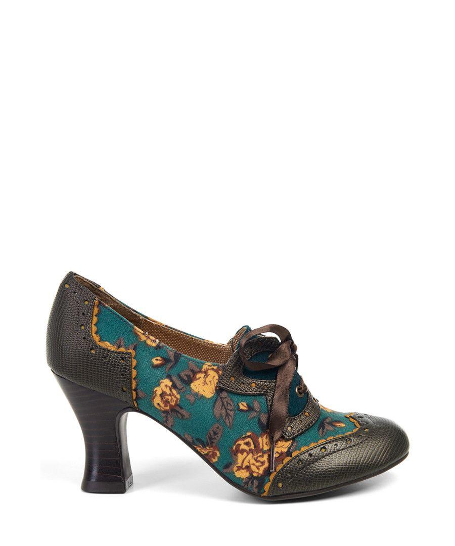 Daisy teal   mustard lace-up heels Sale - Ruby Shoo  24602e61d185