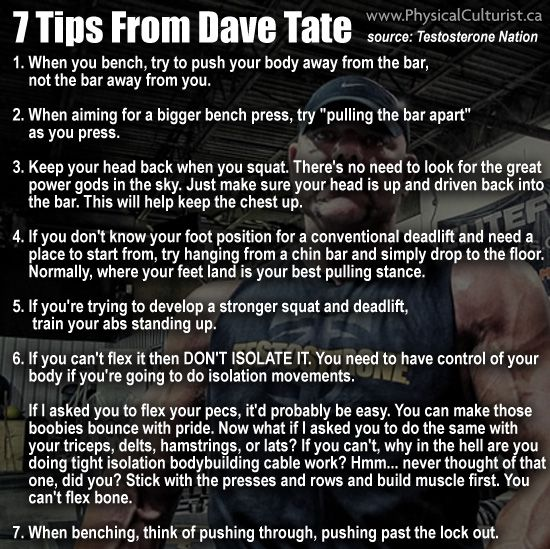 Great Advice About Lifting From Dave Tate