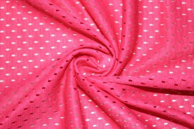 d74bfcb4001 Fuchsia Apparel Fabric Athletic Sports Mesh Knit Polyester BTY Football  Jersey