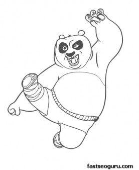 Printable Kung Fu Panda Po Coloring PagesDisney Charactersfargelegge Tegninger Activities
