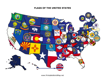 State Flag Map Flag Us Map Map Projects
