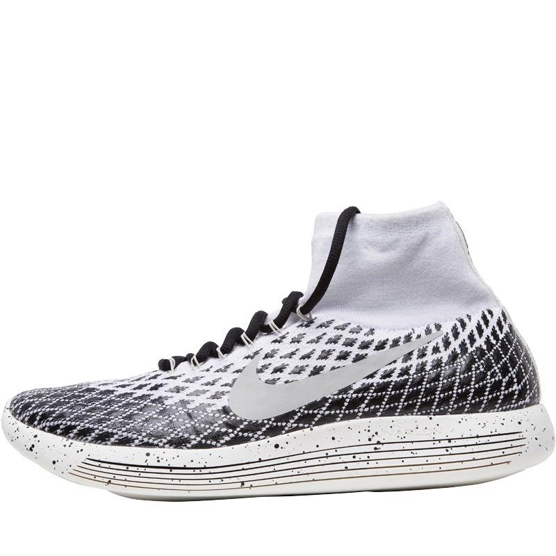 1ef1c5ba596 Nike Mens Lunarepic Flyknit Shield Trainers White Black Sail Pale Grey