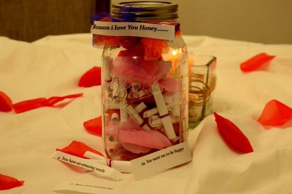 Personalized Message Filled Mason JarDeployment GiftLove Notes JarValentine day giftReasons i love youlovers day giftMason jar  Check out this item in my Etsy shop