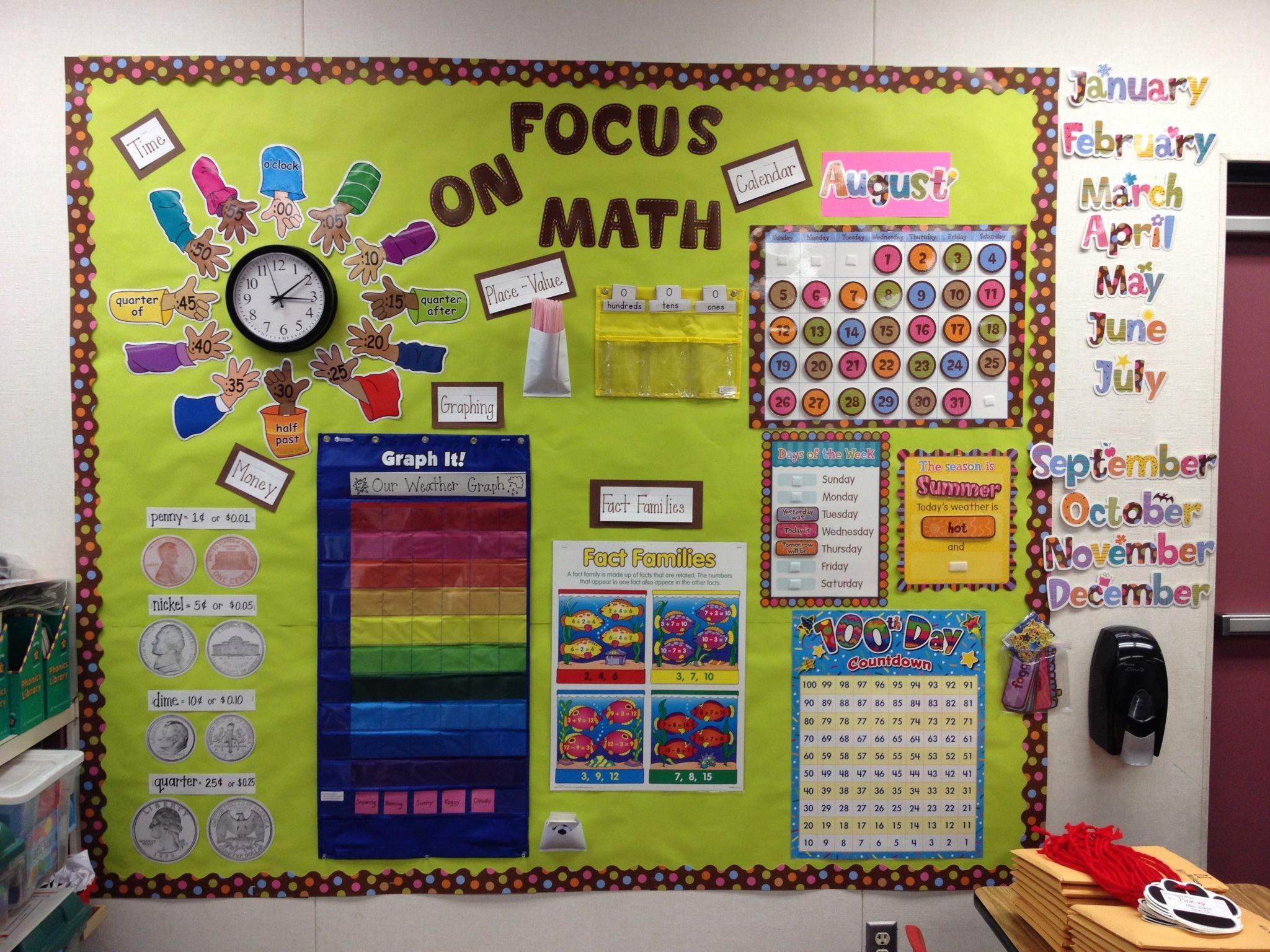 Math Focus Wall First Grade My Classroom