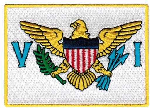 Us Virgin Islands Flag Embroidered Patch Iron On Caribbean National Emblem Virgin Islands Flag Flag Patches Us Virgin Islands