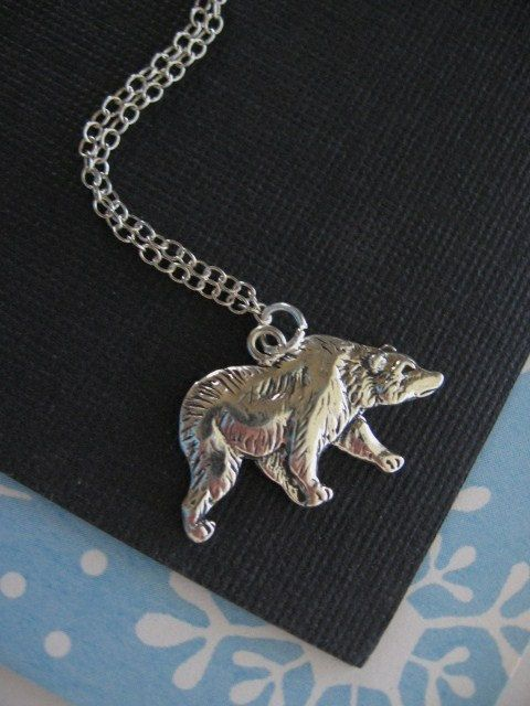 Bear necklace bear pendant bear charm necklace bear jewelry bear necklace bear pendant bear charm necklace bear jewelry sterling silver aloadofball Choice Image