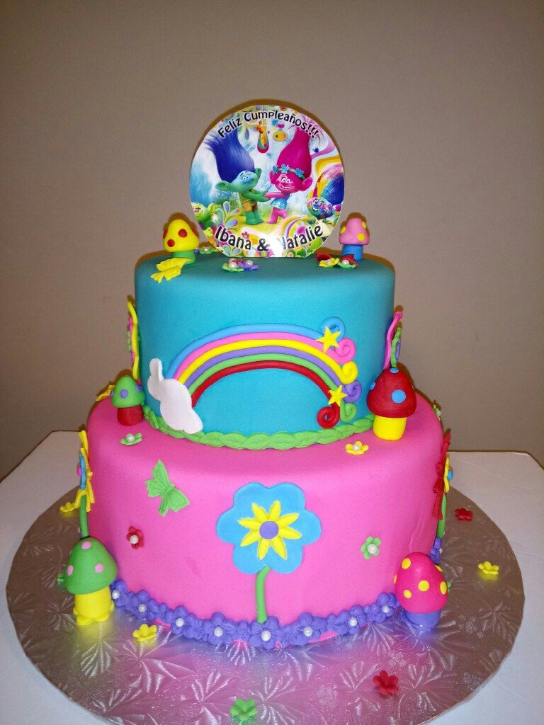 Trolls Birthday Cake Romys Bakery Calgary Trolls Birthday Party