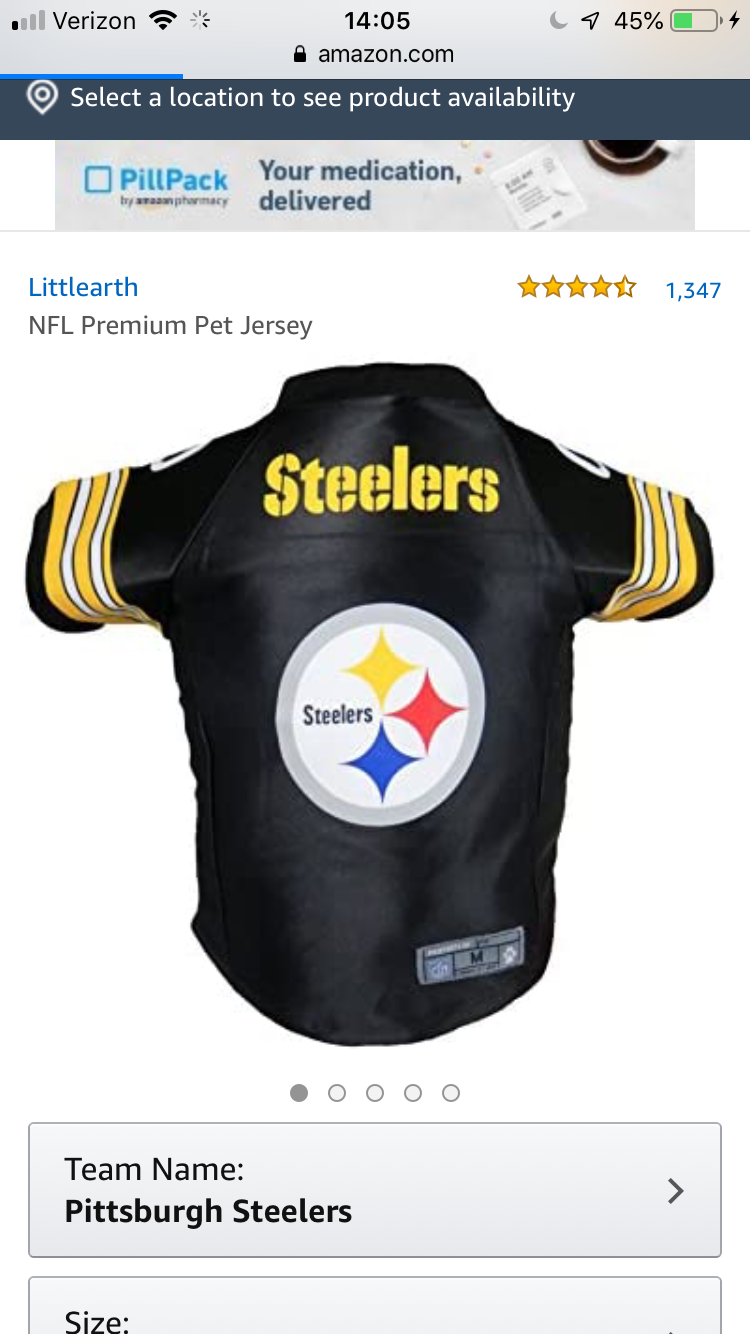 Steelers Jersey for a Cat in 2020 Steelers team, Jersey