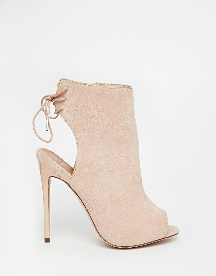383ef26cbb EAST TOWN Peep Toe Shoe Boots | SHOES | Peep toe shoe boots, Shoes ...