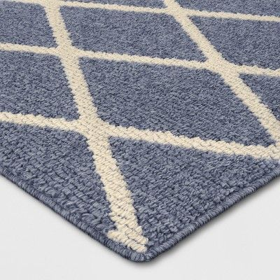 1 8 X2 10 20 X34 Diamond Washable Tufted And Hooked Accent Rug Indigo Threshold Machine Washable Rugs Rugs Tufted