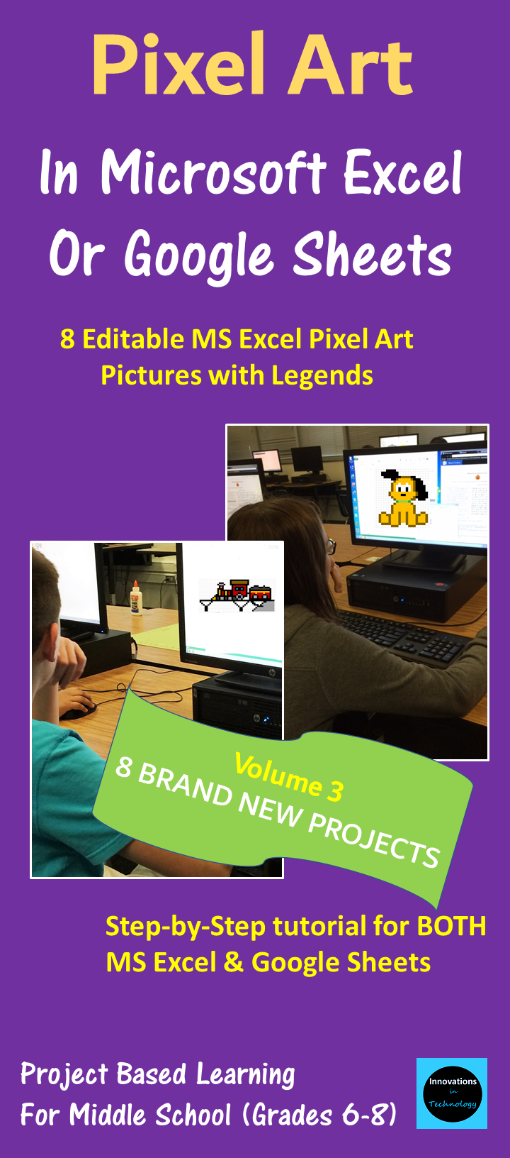 pixel art in microsoft excel or google sheets volume 3 best of