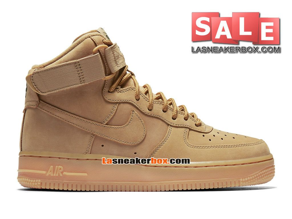 nike wmns air force 1 high 07 lv8 flax chaussure nike montante pas