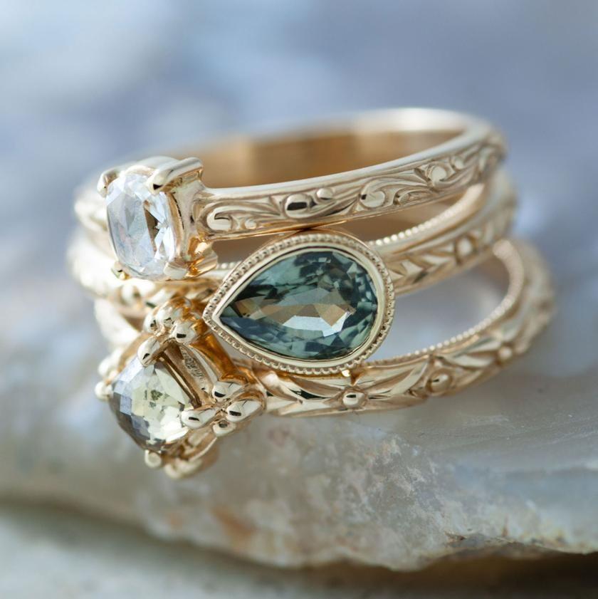 Engagement Wedding Tagged Montana Sapphires Era Design In 2020 Rose Gold Engagement Ring Vintage Rose Gold Engagement Ring Vintage Engagement Rings