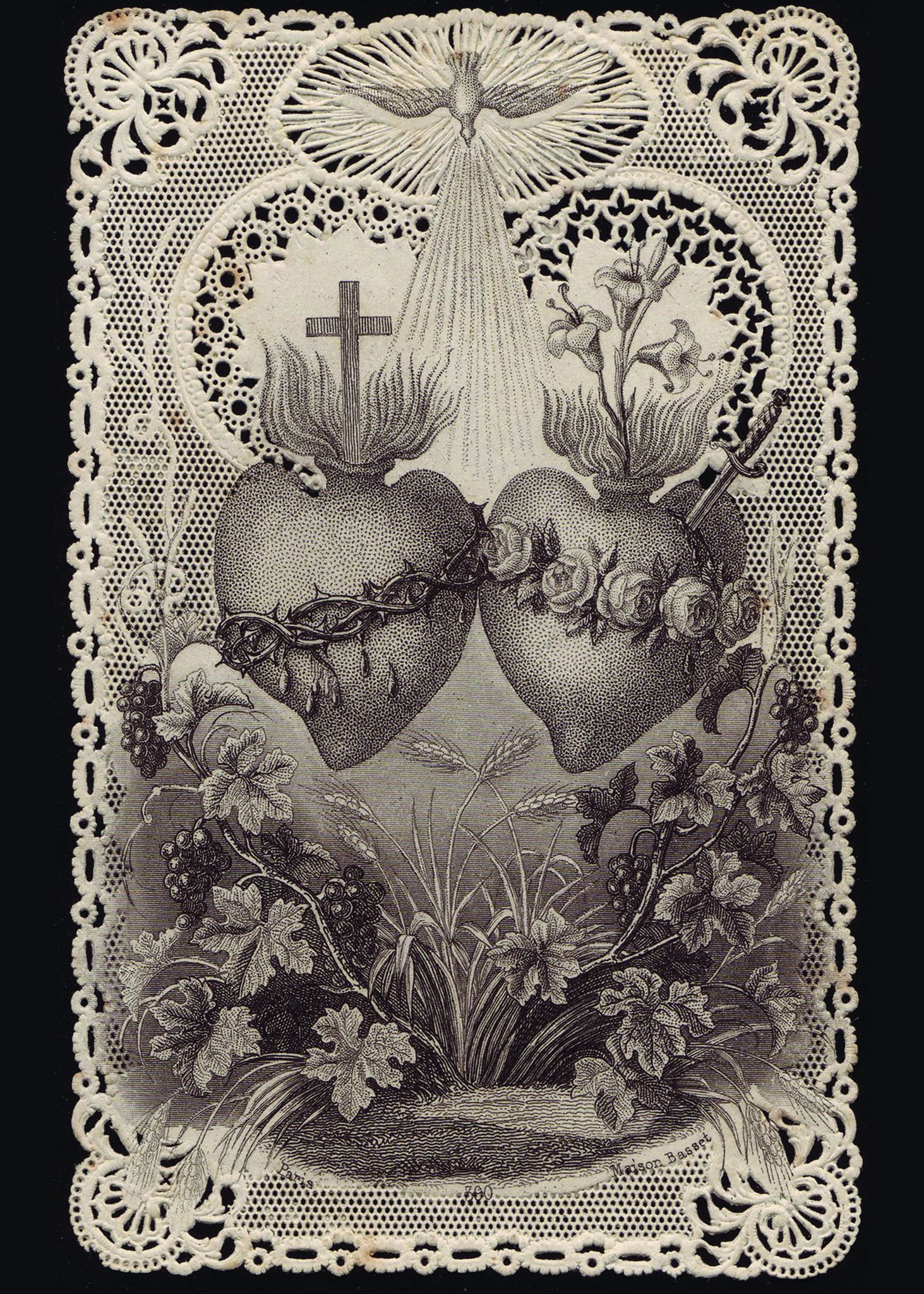 Sacred Heart Of Jesusimmaculate Heart Of Mary Print 5x7 Misc