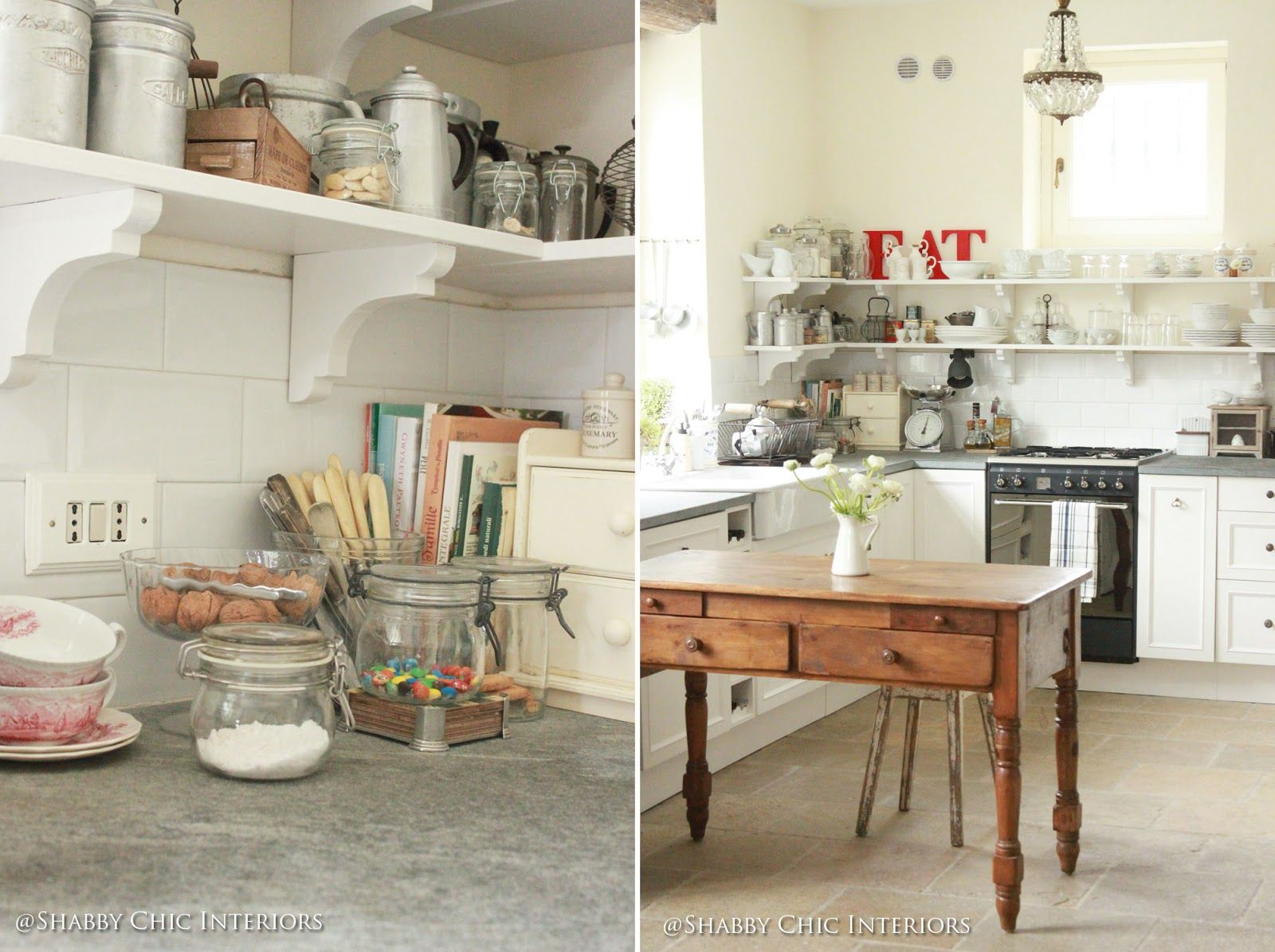Shabby Chic Interiors: Restyling di una cucina Ikea | ~Kitchen\'s to ...