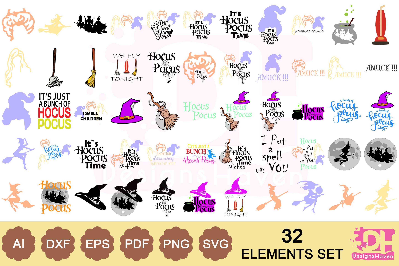 55 Hocus Pocus Halloween SVG Bundle (Graphic) by