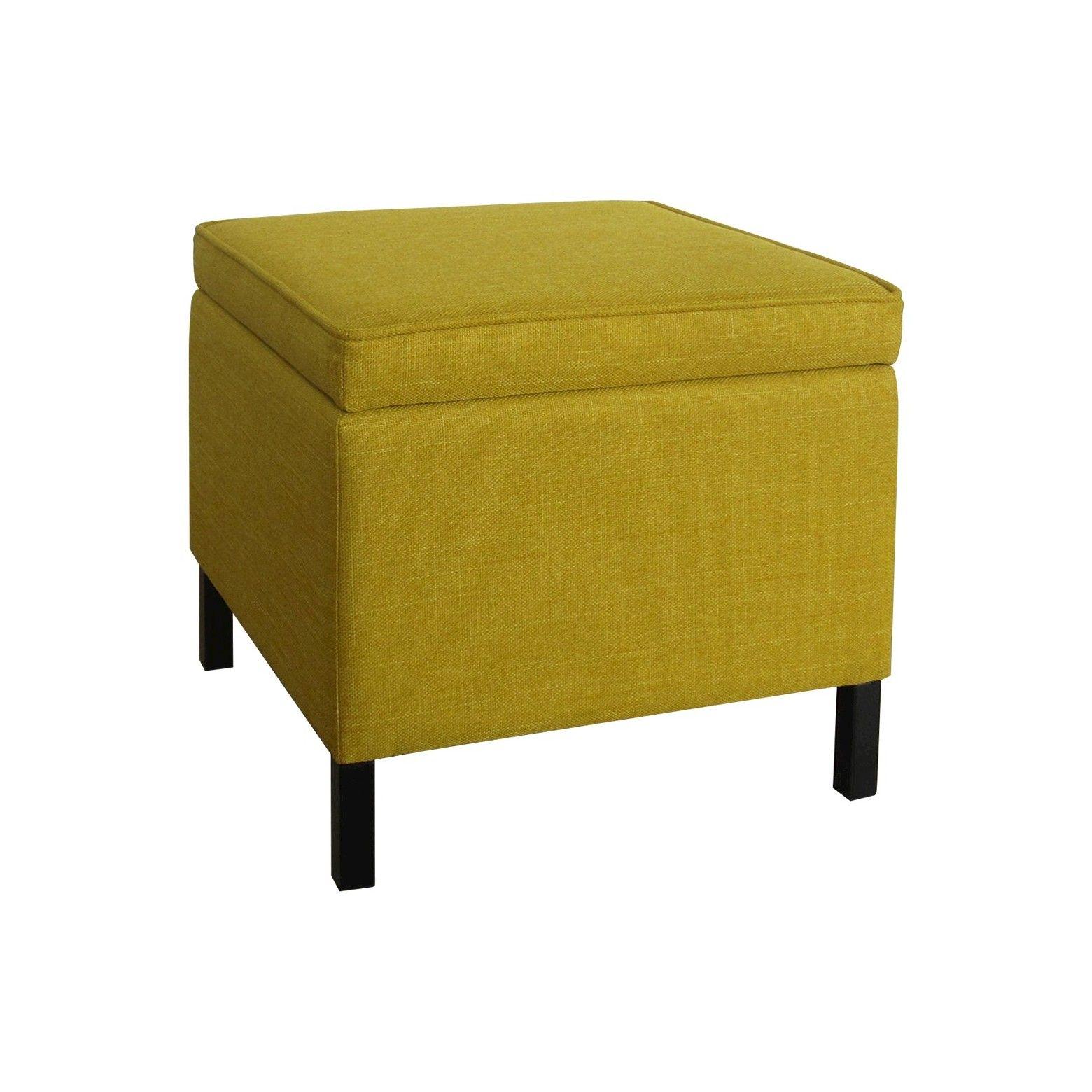 Storage Ottoman Yellow Room Essentials Yellow Storage Room