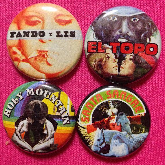 Item #097 BUTTONS Alejandro Jodorowsky films cult movie Fando Y Lis Holy Mountain El Topo Santa Sangre