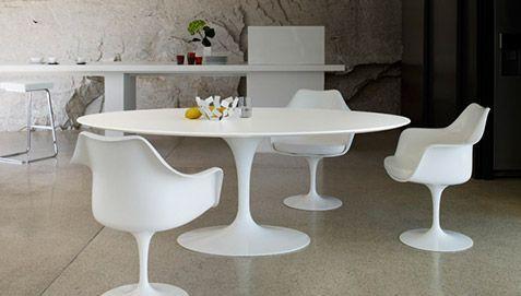 Table Ronde Tulipe Fibre De Verre Style Eero Saarinen 120 Cm Pas Cher Table Salle A Manger Table Design Table A Manger Ronde