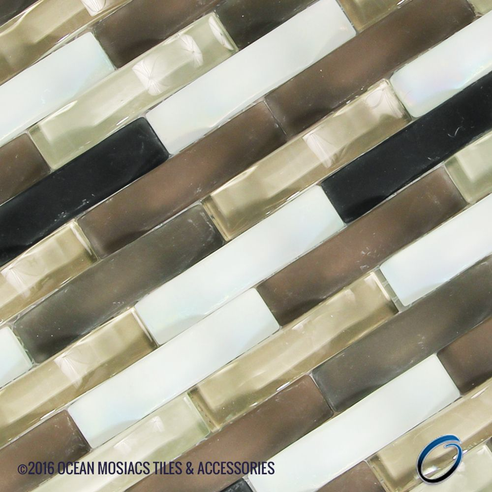 Black Brown White Wavy Ripple Glass Tile Perfect For Kitchen Backsplash Add A Bold Charact Glass Mosaic Tiles Black And White Backsplash Mosaic Backsplash