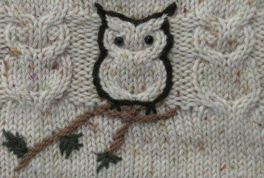 sweet owl embroidery