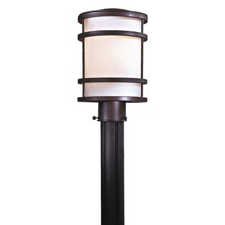 Bay View Collection 12 1 4 High Bronze Post Mount Light 94592 Lamps Plus In 2020 Post Mount Lighting Post Mount Outdoor Post Lights