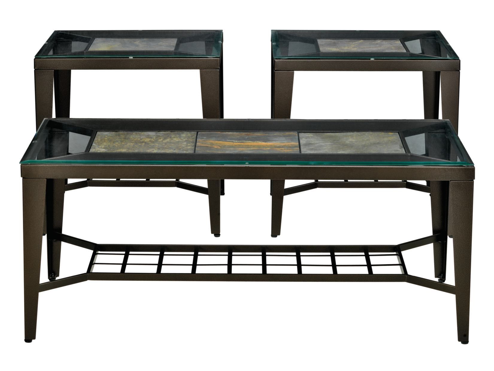 slate canyon 3-pc table set - value city furniture