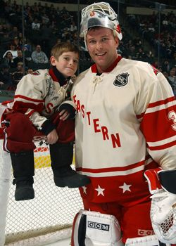 Martin Brodeur And His Son Who He Just Selected In The 2013 Draft