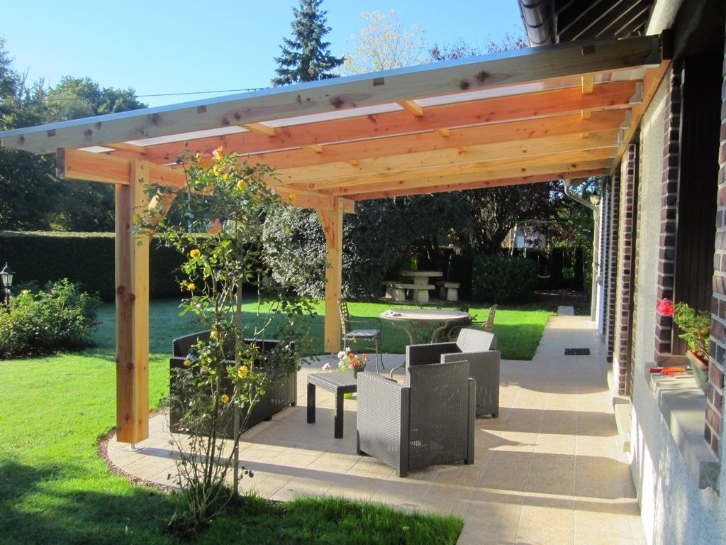 pergola murale bois 6 06 x 4 00 m couverture polycarbonate 16mm ebay outdoor living. Black Bedroom Furniture Sets. Home Design Ideas
