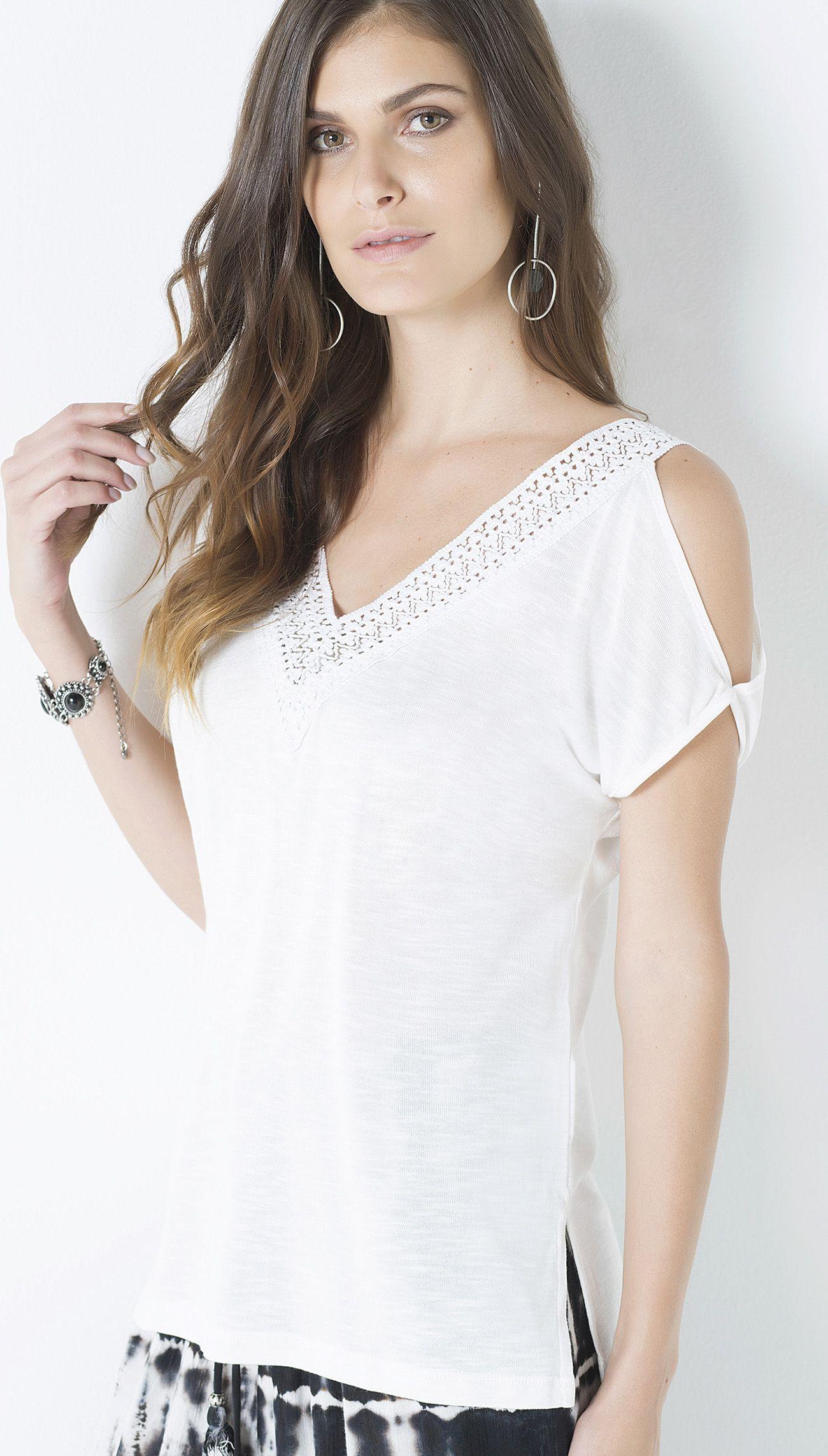 BLUSA MALHA OPEN SHOULDER - Shoulder | blusa | Pinterest | Blusas ...