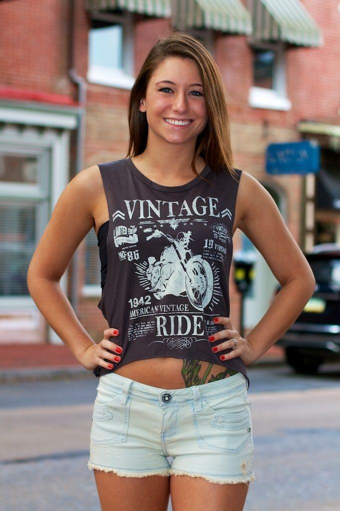 American Vintage Ride Muscle Tank Top Tank Tops Muscle Tank Tops Tops